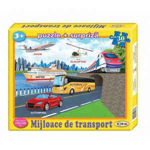 Image Puzzle Mijloace de transport 30ps.